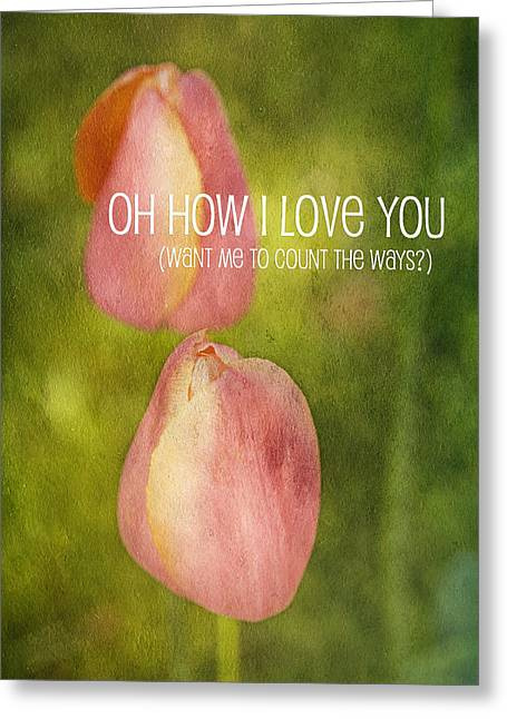 Valentines Day Greeting Cards - Oh How I Love You Greeting Card by Bonnie Bruno