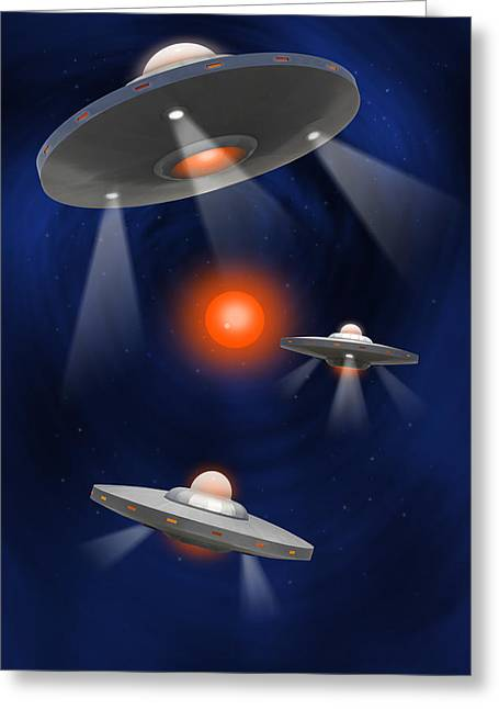 Spacecraft Greeting Cards - Oh - I Believe 3 Greeting Card by Mike McGlothlen