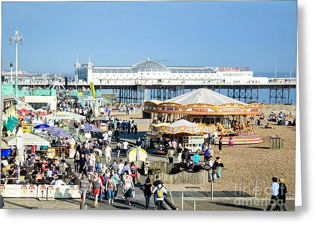 Al Fresco Greeting Cards - Oh I do like to be beside the English seaside Greeting Card by David Hill