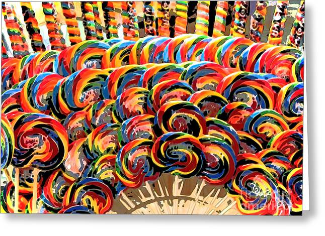 Gameroom Greeting Cards - Oh Lolly Lollypop Greeting Card by Colleen Kammerer