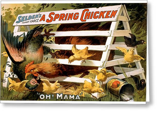 Nostalgic Mixed Media Greeting Cards - Oh Mama Greeting Card by Terry Reynoldson