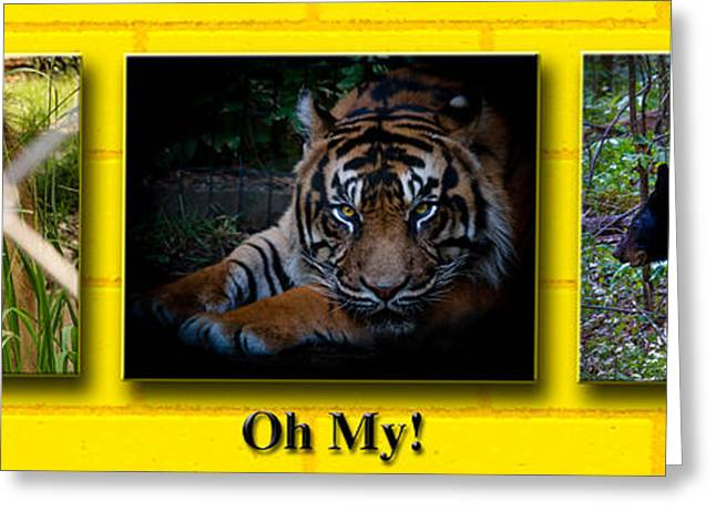 The Tiger Greeting Cards - Oh My Greeting Card by Robert L Jackson