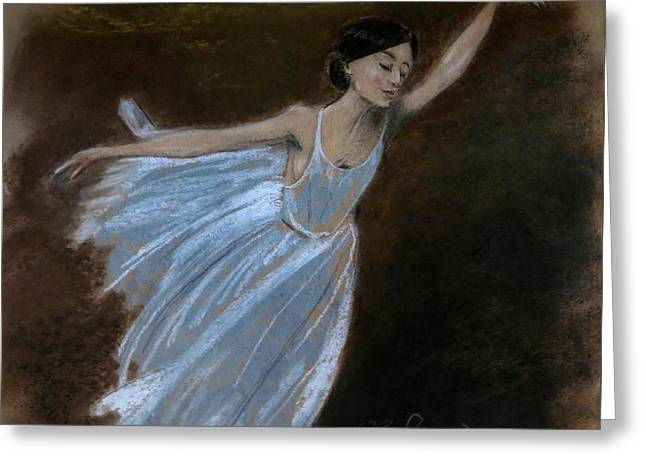 Ballet Dancers Greeting Cards - Oh Quand Jadore... Greeting Card by C Pichura