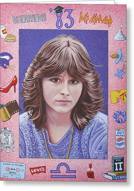 Def Leppard Paintings Greeting Cards - Oh Sherrie Greeting Card by Lance Bifoss
