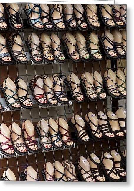 Southern Province Greeting Cards - Oh Shoe Greeting Card by Lorraine Devon Wilke
