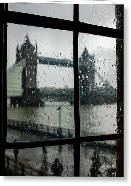 Grey Clouds Greeting Cards - Oh So London Greeting Card by Georgia Mizuleva