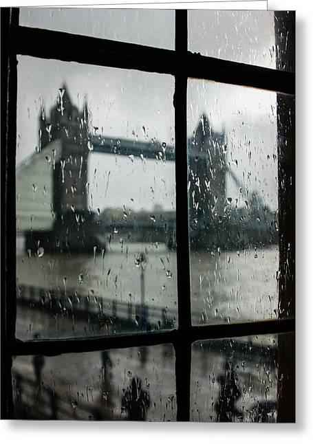Oh So London Greeting Card by Georgia Mizuleva