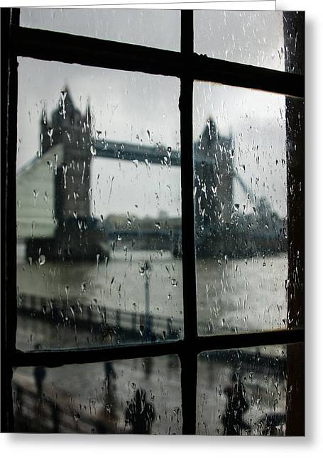 Grey Clouds Greeting Cards - Oh So London Greeting Card by Georgia Mizuleva