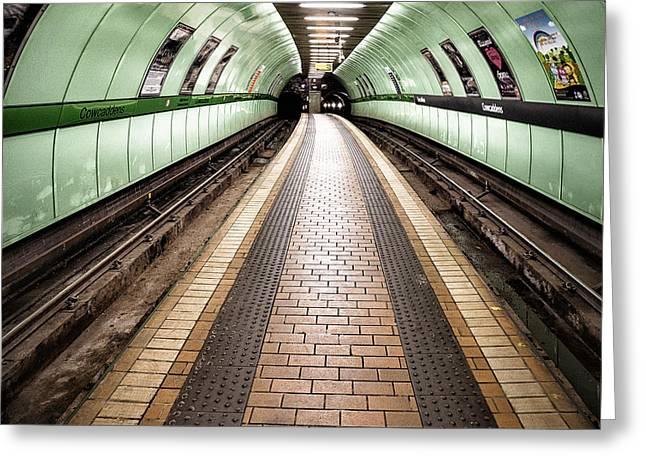 Subway Greeting Cards - Oh so quiet Greeting Card by John Farnan