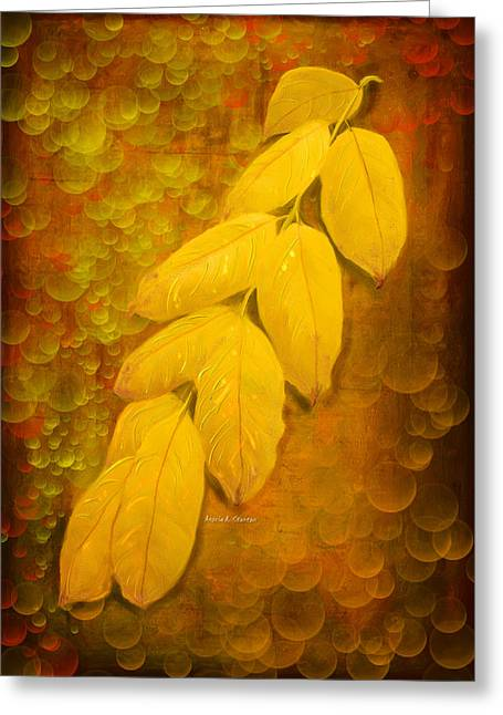 Fizz Paintings Greeting Cards - Oh Where Did All Dreams Go Greeting Card by Angela A Stanton