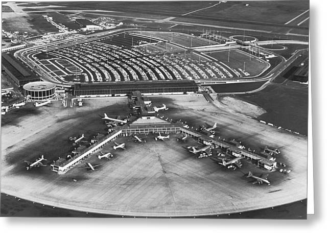 O'hare International Airport Greeting Card by Underwood Archives