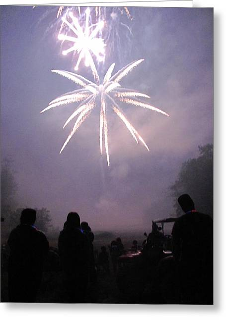 4th July Photographs Greeting Cards - Ohhs and Ahhhs Greeting Card by Kerry Lapcevich