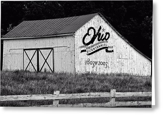 Photos On Canvas Greeting Cards - Ohio bicentennial barn Greeting Card by Chris Flees