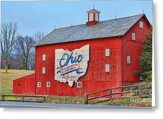 Ohio Bicentennial Barn Greeting Card by Jack Schultz