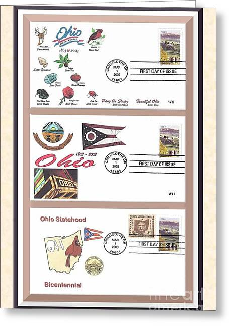 Recently Sold -  - First-lady Greeting Cards - Ohio Bicentennial First Day Covers Greeting Card by Charles Robinson