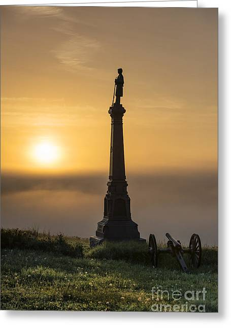 Confederate Monument Greeting Cards - Ohio Monument at Cemetery Hill Gettysburg Greeting Card by John Greim