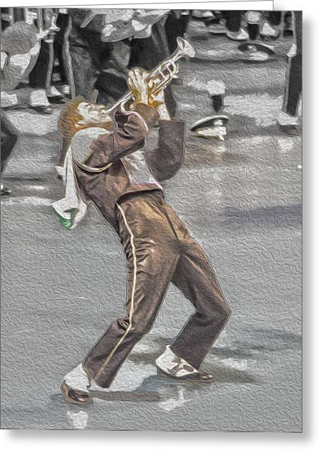 Spats Greeting Cards - Ohio Music Man Greeting Card by Tom Gari Gallery-Three-Photography