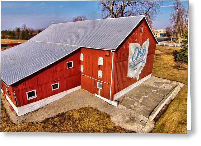 Ohio Red Greeting Cards - Ohio Red Barn Greeting Card by Dan Sproul