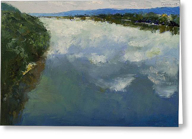Ohio River Greeting Cards - Ohio River Painting Greeting Card by Michael Creese