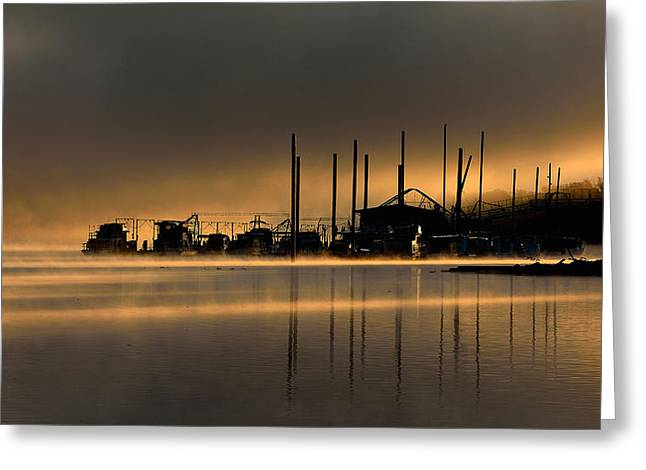 """""""riverfront Park"""" Greeting Cards - Ohio River Greeting Card by Todd Hostetter"""