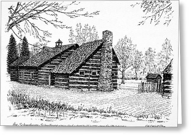 Ohio Schoolhouse, 1772 Greeting Card by Granger