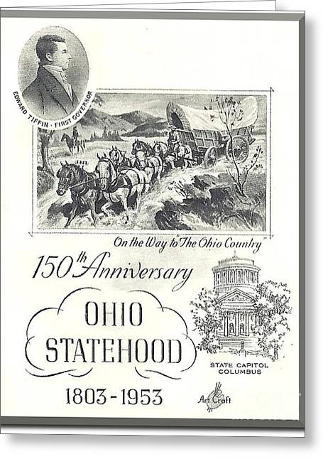 Sesquicentennial Greeting Cards - Ohio Sesquicentennial Poster Greeting Card by Charles Robinson
