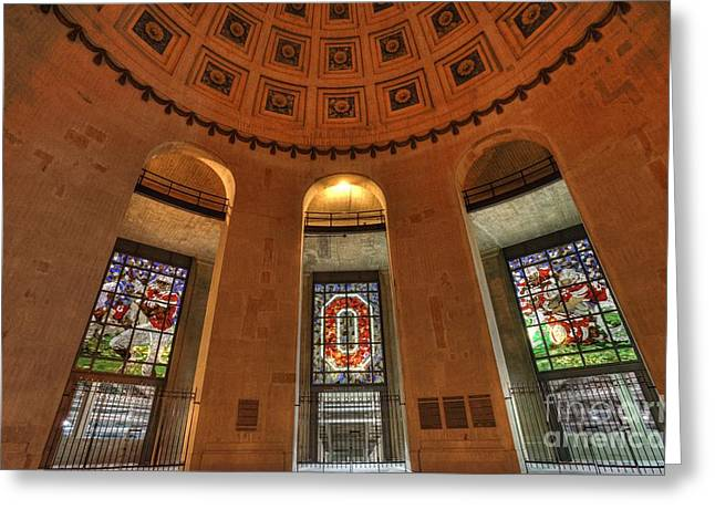 Buckeye Greeting Cards - Ohio Stadium Greeting Card by David Bearden