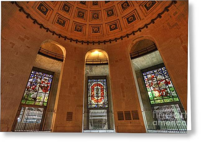 Ohio Stadium Greeting Card by David Bearden