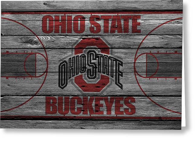 Ohio State University Greeting Cards - Ohio State Buckeyes Greeting Card by Joe Hamilton