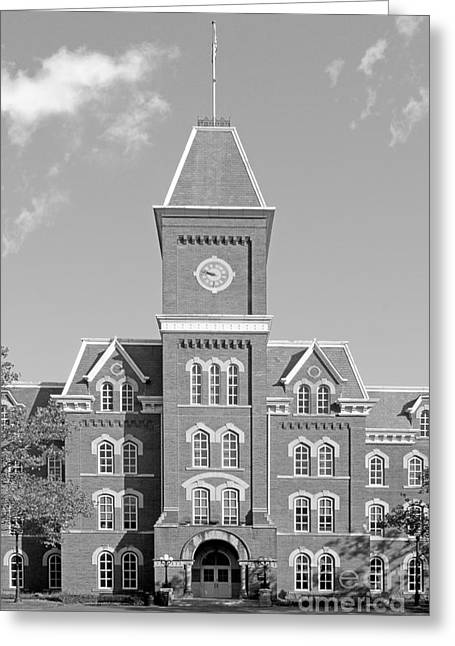 Big Ten Conference Greeting Cards - Ohio State University Hall Greeting Card by University Icons