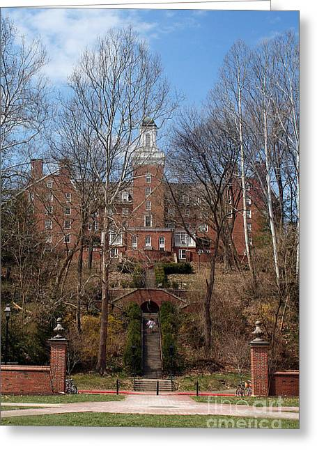 Bobcats Photographs Greeting Cards - Ohio University Bryan Hall Greeting Card by Karen Adams