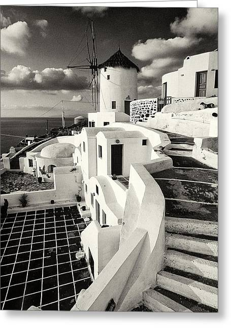 Thirasia Greeting Cards - Oia - Santorini - Greece Greeting Card by Manolis Tsantakis