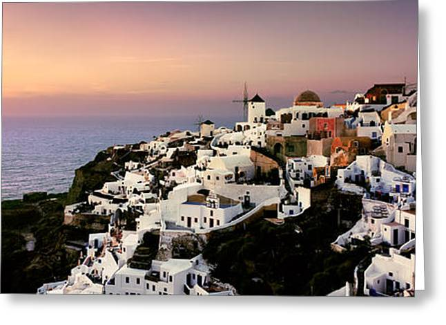 Cyclades Greeting Cards - Oia - Santorini Greeting Card by Rod McLean
