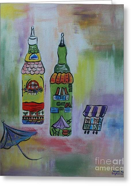Oil And Vinegar Greeting Card by PainterArtist FIN