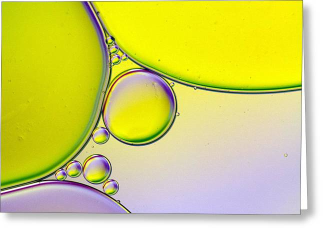 Blob Greeting Cards - Oil and Water 3 Greeting Card by Rebecca Cozart