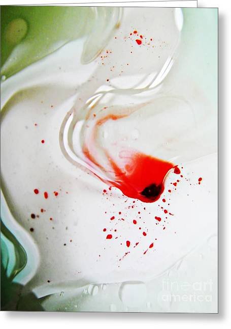 Sarah Loft Greeting Cards - Oil and Water 39 Greeting Card by Sarah Loft