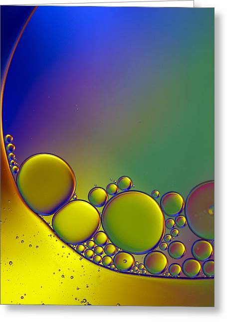 Blob Greeting Cards - Oil and Water 4 Greeting Card by Rebecca Cozart