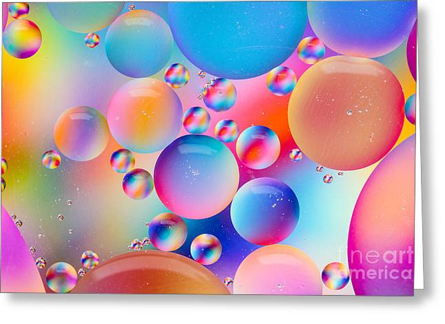 Oil And Water Greeting Card by Dawna  Moore Photography