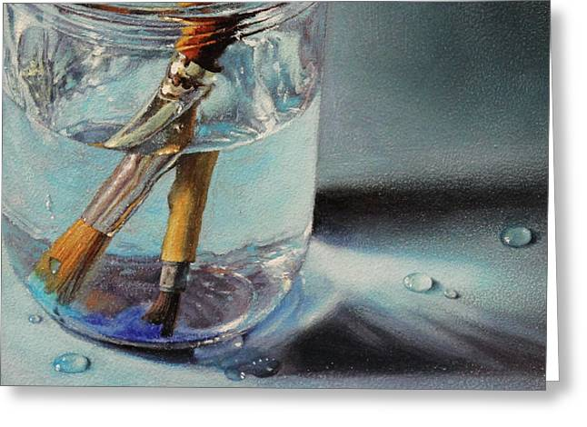 Water Jars Greeting Cards - Oil and Water Greeting Card by Lisa  Ober