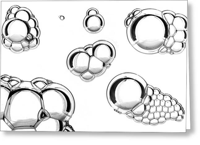 Oil And Water Mixture Greeting Card by Crown Copyright/health & Safety Laboratory Science Photo Library
