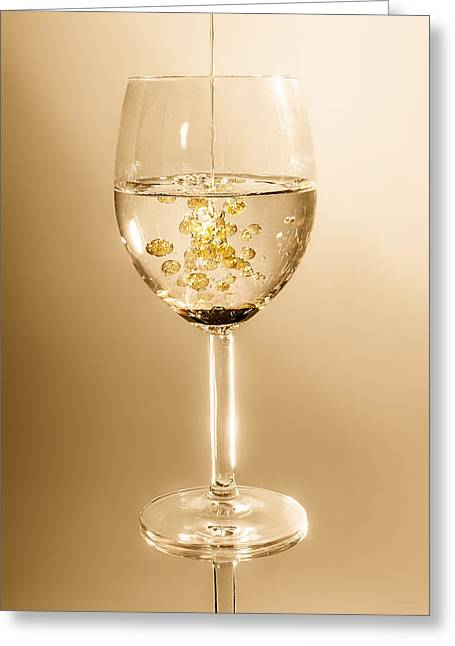 Wine Pouring Greeting Cards - Oil and Water Greeting Card by Mountain Dreams
