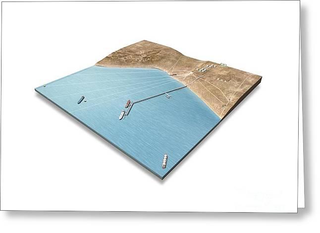 Carrier Greeting Cards - Oil Hub, Artwork Greeting Card by Claus Lunau