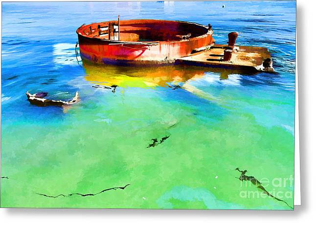 The Cost Of War Greeting Cards - Oil Leak 10 Greeting Card by Jon Burch Photography