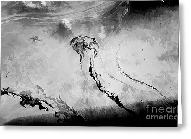 The Cost Of War Greeting Cards - Oil Leak 13 Greeting Card by Jon Burch Photography