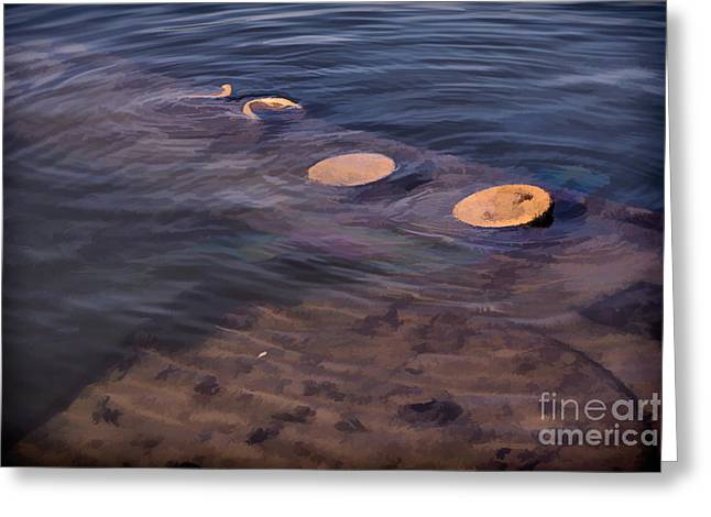 The Cost Of War Greeting Cards - Oil Leak 2 Greeting Card by Jon Burch Photography
