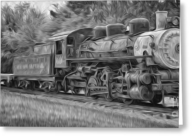 Kenyon Greeting Cards - Oil Painted Train Greeting Card by Brian Mollenkopf