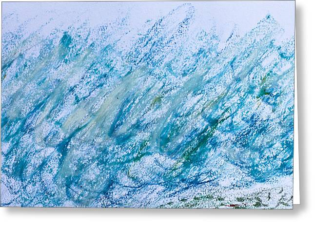 Oil pastel marks Greeting Card by Tom Gowanlock