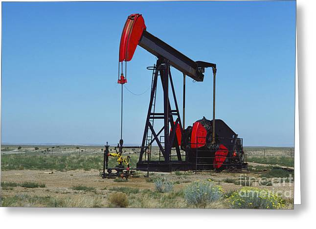 Beam Pump Greeting Cards - Oil Pump, New Mexico Greeting Card by Bedrich Grunzweig