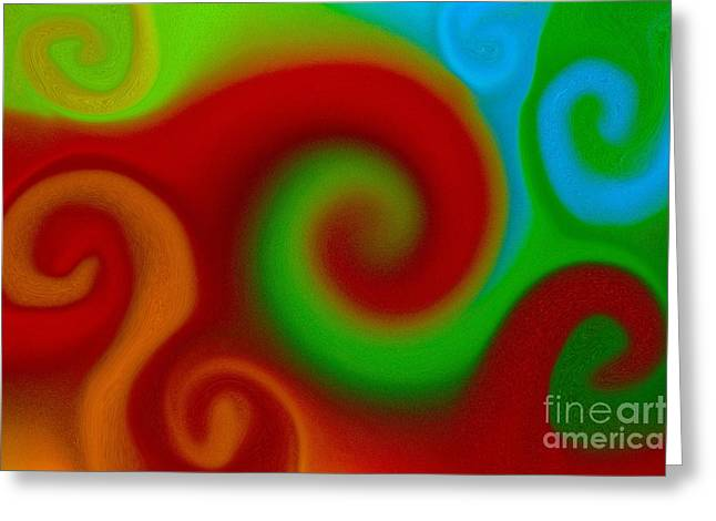 Decor Photography Pastels Greeting Cards - Oil Swirls Greeting Card by Imani  Morales