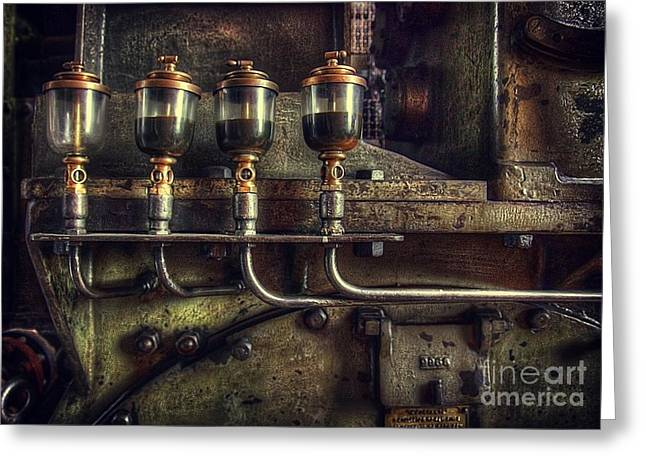 Steam Punk Greeting Cards - Oil Valves Greeting Card by Carlos Caetano
